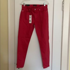 BANANA REPUBLIC pink rose skinny jeans -28-NWT!
